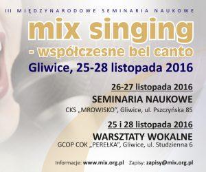 MIX SINGING – WSPÓŁCZESNE BEL CANTO 25-28 Listopada